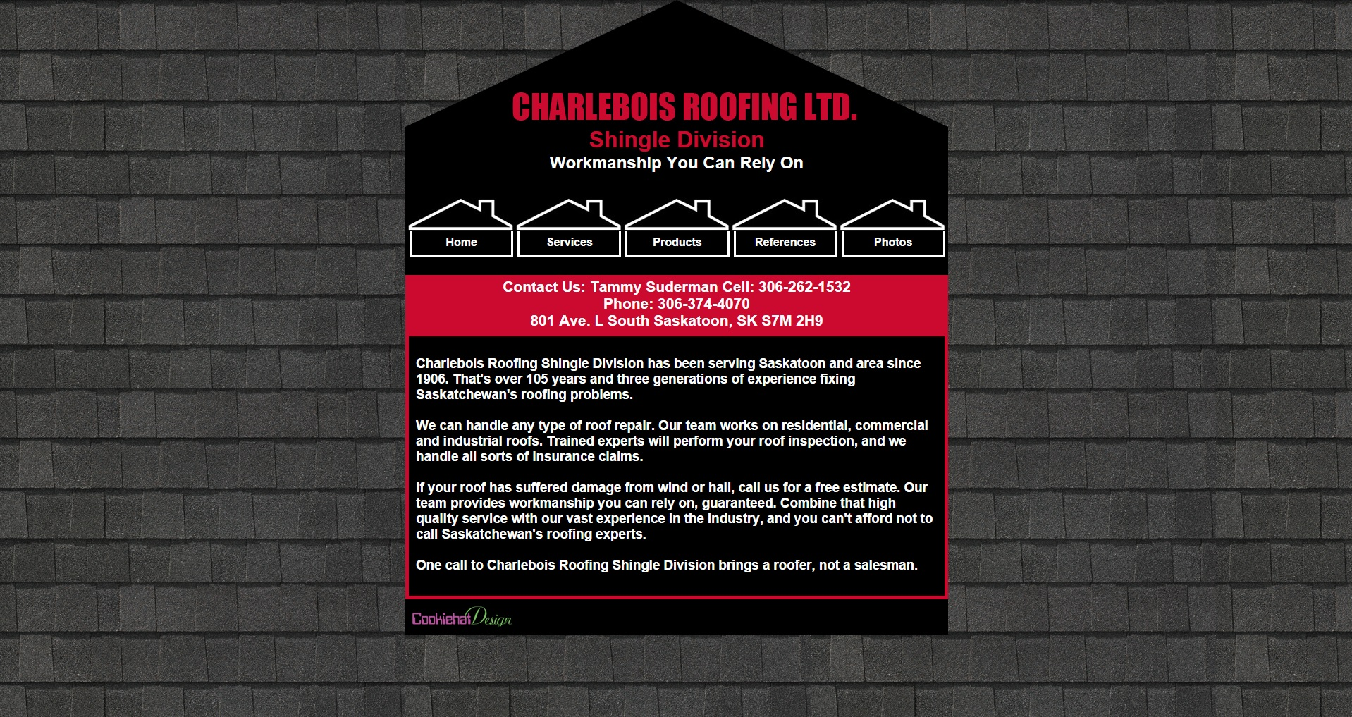 Charlebois Roofing Shingle Division Website