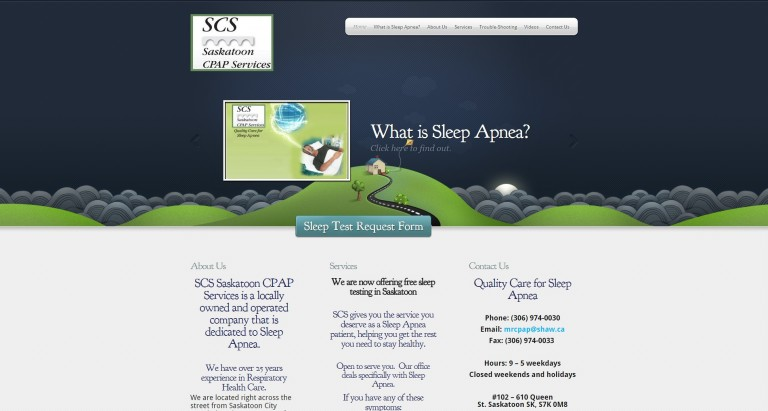 Saskatoon CPAP Services Website